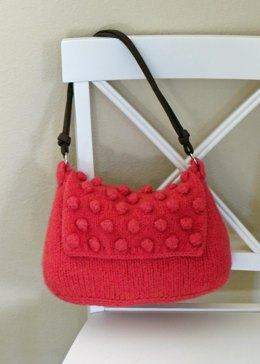 Knit and Felted Purse - Berry Bag