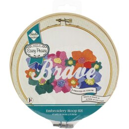 Needle Creations Easy Peasy Reverse Embroidery Kit - Brave - 6in