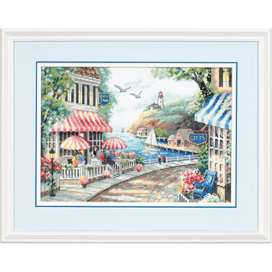 Dimensions Café by the Sea Cross Stitch Kit - 36cm x 25cm