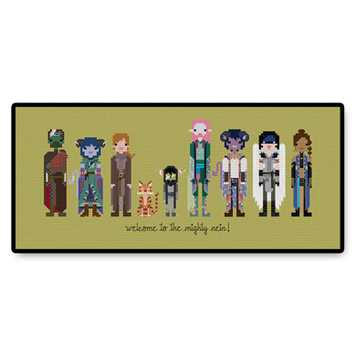The Mighty Nein - PDF Cross Stitch Pattern