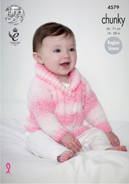 Cardigan & Sweater in King Cole Baby Soft Chunky - 4579 - Leaflet