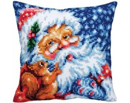 Collection D'Art Santa Claus Cross Stitch Cushion Kit - 40cm x 40cm