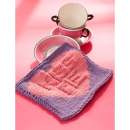Kiss Me' Candy Dishcloth in Lily Sugar 'n Cream Solids