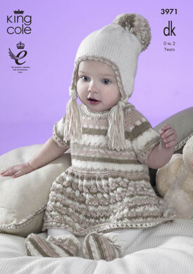 Baby Set in King Cole Comfort DK - 3971