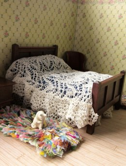 1:12th scale Lace bed set