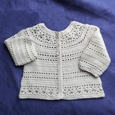 Gina - floral lace baby/child cardigan
