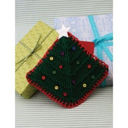 Christmas Tree Gift Card Cozy in Lily Sugar 'n Cream Solids