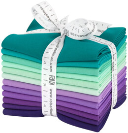 Robert Kaufman Kona Cotton Solids Fat Quarter Bundle - FQ-1382-12