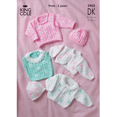Cardigan, Sweater, Top, Bolero and Hat in King Cole Comfort Baby DK - 2903