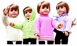 """18"""" Doll Sweaters, Collection One"""
