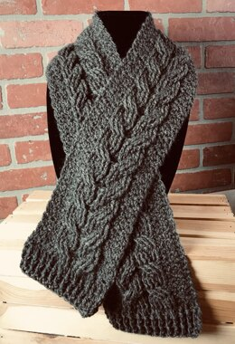 The Wheat Cabled Scarf