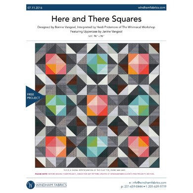 Windham Fabrics Here and There Squares - Downloadable PDF