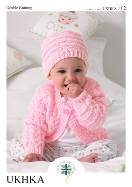 Cardigans, Hat and Blanket in King Cole DK - UKHKA112pdf - Downloadable PDF