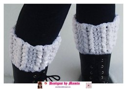 Crochet Braided Hearts Boot Cuffs Romantic Legwarmer Unique