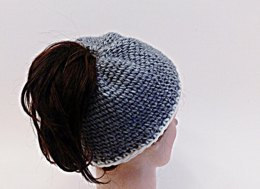 Bun Hat Knit Look Crochet