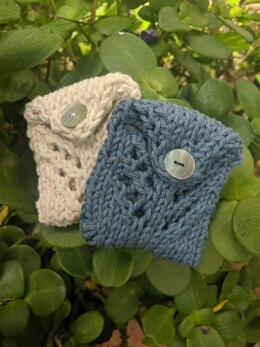 Knitted Lace Coin Pouch