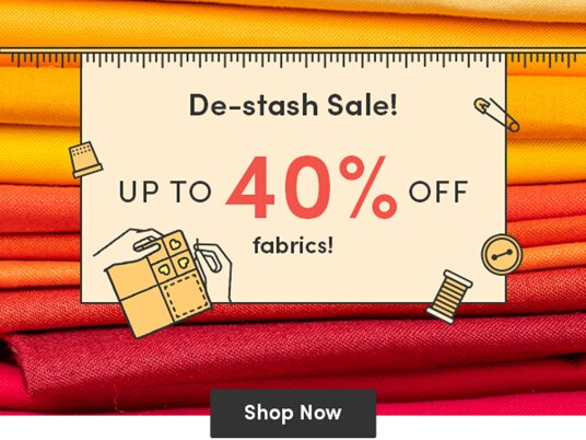 Up to 40 percent off in our de-stash sale!