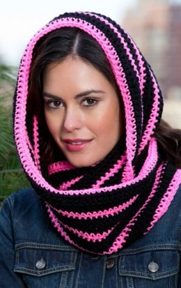 Bright Stripes Cowl in Red Heart Super Saver Economy Solids - LW3517