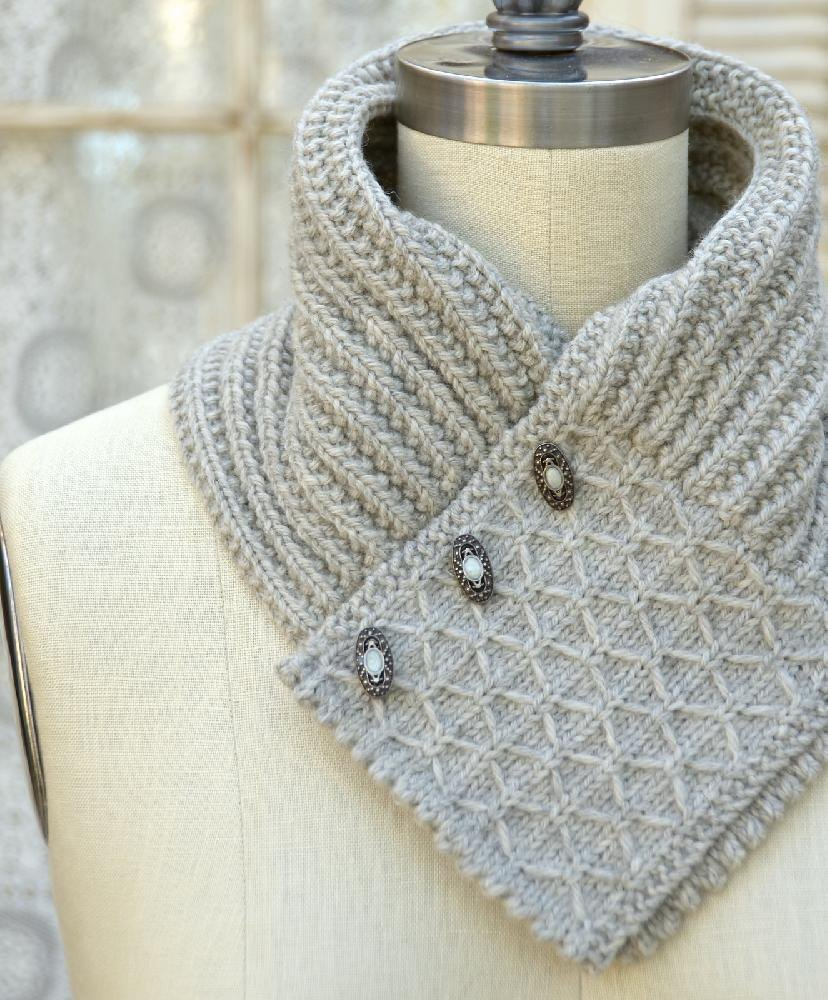 Quilted Lattice Ascot Knitting pattern by Pam Powers | Knitting ...