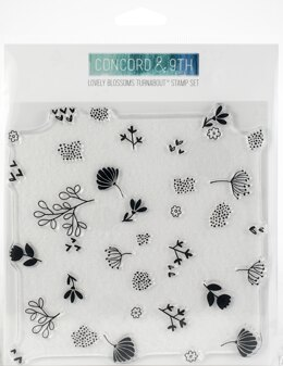 """Concord & 9th Clear Stamps 6""""X6"""" - Lovely Blossoms Turnabout"""