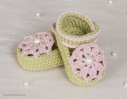 Ice Cream Swirl Baby Booties