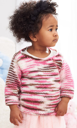 Sweet and Simple Pullover in Caron Simply Baby - Downloadable PDF