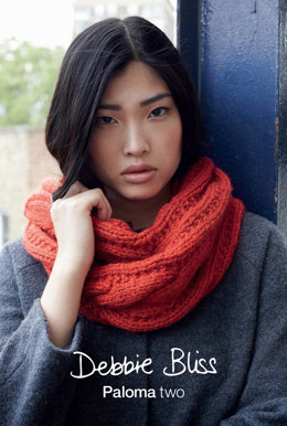 """Cowl And Muff"" - Cowl Knitting Pattern in Debbie Bliss Paloma"