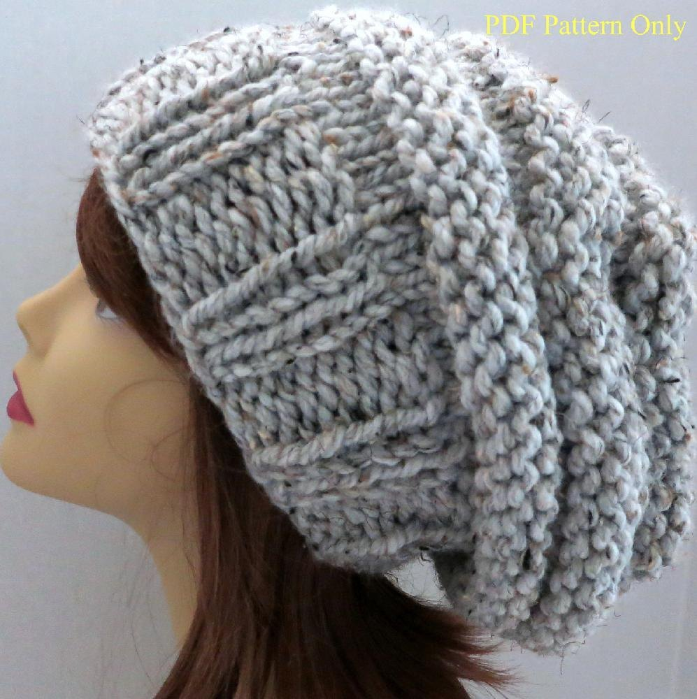 Chunky Mini-Beehive Slouch Hat Pattern Knitting pattern by Grace ...