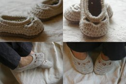 Mommy and Me Yoke Ballet Flats