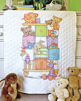 Dimensions Baby Drawers Quilt Stamped Cross Stitch Kit