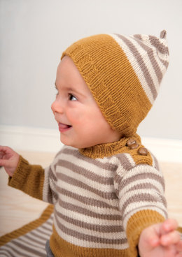 Striped Sweater, Hat and Blanket in Rico Essentials Cashlana DK - 331 - Downloadable PDF