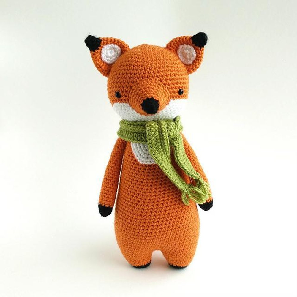 Fox with Scarf Crochet Amigurumi Pattern Crochet pattern by Little Bear  Crochets