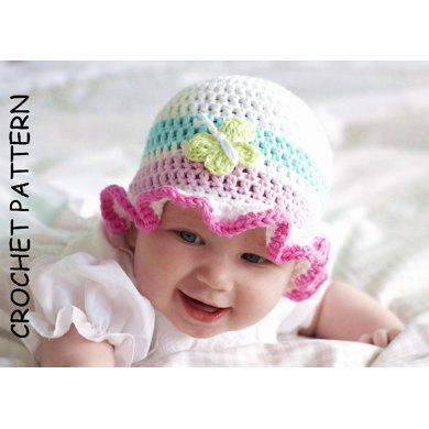 Crochet Hat Pattern, 'Ruffles'