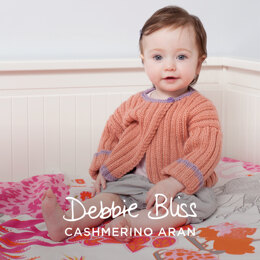 """Leah Cardigan"" - Cardigan Knitting Pattern For Babies in Debbie Bliss Cashmerino Aran - DBS072"