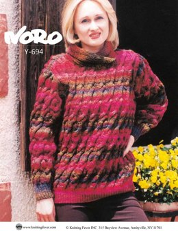 Cabled Sweater in Noro Kureyon