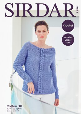 Sweater in Sirdar Cotton DK - 8256 - Downloadable PDF