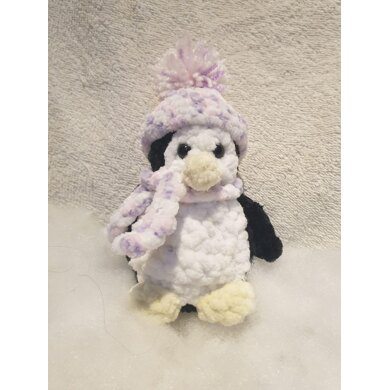 Crochet penguin with hat and scarf