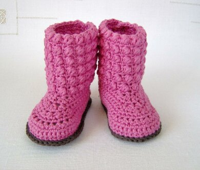 Bubble Stitch Baby Booties