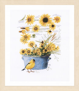 Lanarte Helianthus Sunflowers Cross Stitch Kit - Multi