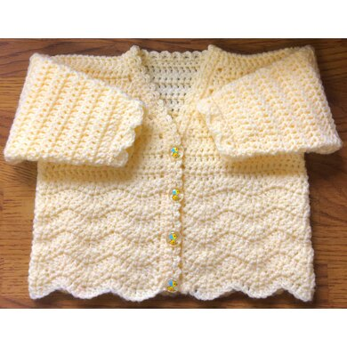 Cosy Chevron Panel Cardigan for Baby or Child