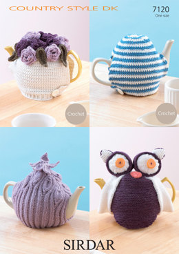 Crochet/Knitted Teacosies in Sirdar Country Style DK - 7120 - Downloadable PDF