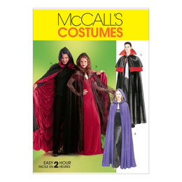 McCall's Misses'/Men's/Teen Boys' Lined & Unlined Cape Costumes M4139 - Sewing Pattern