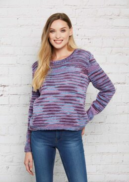 Knitted Sweater in Stylecraft Colour Pool - Downloadable PDF