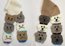 Stacked Kitty & Doggie Scarf