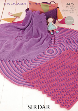 Blankets in Sirdar Snuggly 4 Ply - 4475