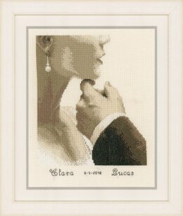 Vervaco Bride and Groom Wedding Sampler Cross Stitch Kit