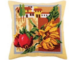 Collection D'Art Tuscany Sunflower Cross Stitch Cushion Kit - Multi