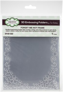 """Creative Expressions 3D Embossing Folder 5.75""""X7.5"""" - Forget Me Not Frame"""