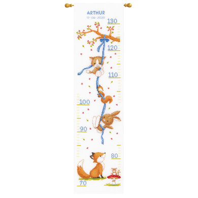 Vervaco Forest Friends Height Chart Cross Stitch Kit