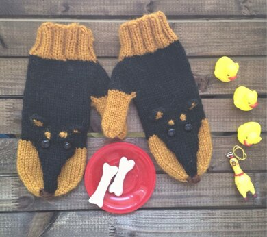 Winter Dogs Mittens